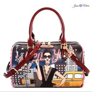 ● Nicole Lee New York Printed Boston Bag ●